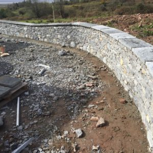 Dry limestone boundry wall