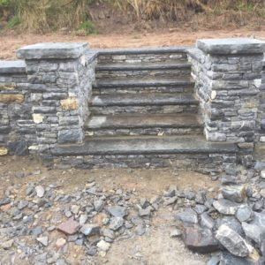 Dry limestone wall Steps in Stonework