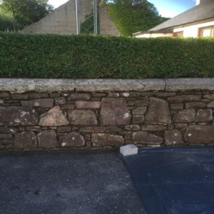 Stone wall racked out and replaced with lime mortar Kiltallagh