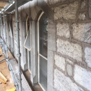 UCC Windle building lime mortar pointing
