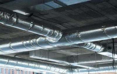 Insulation for air conduction metal ducts